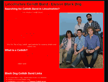 Tablet Preview of blackdogband.co.uk
